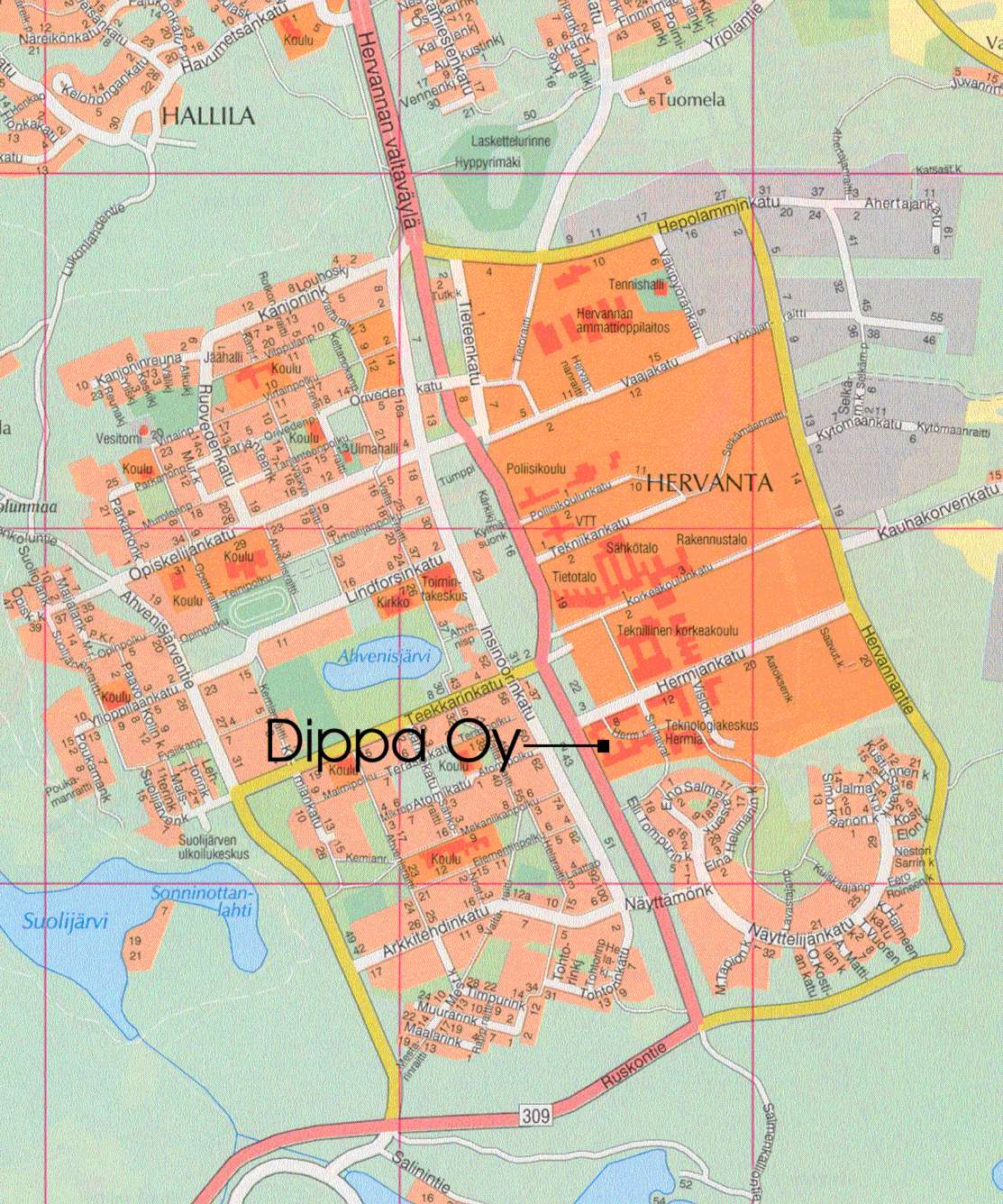 hervannan kartta Viitasaari